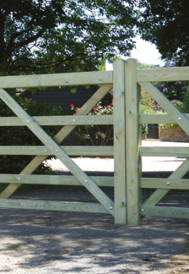 Rolled 5 Bar Field Gates