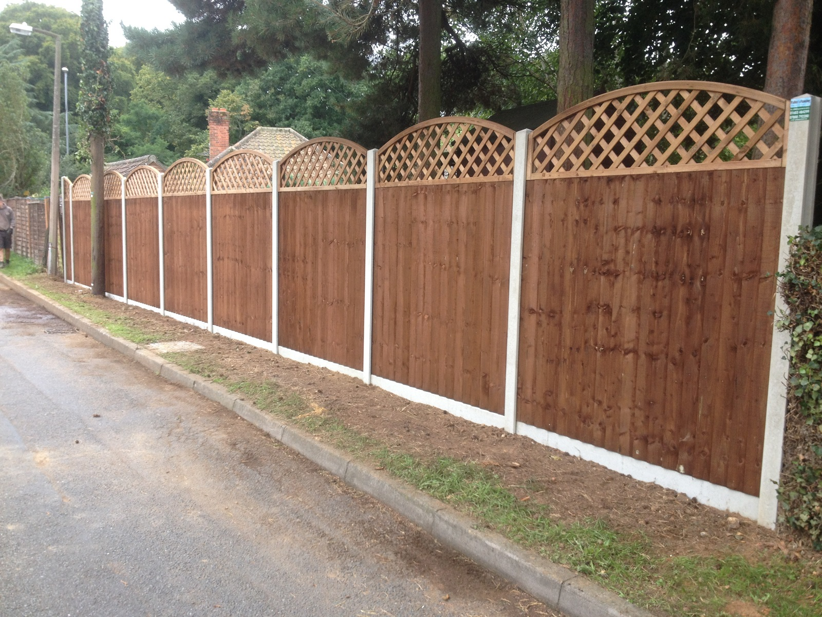 Closeboard with Shaped Trellis rs
